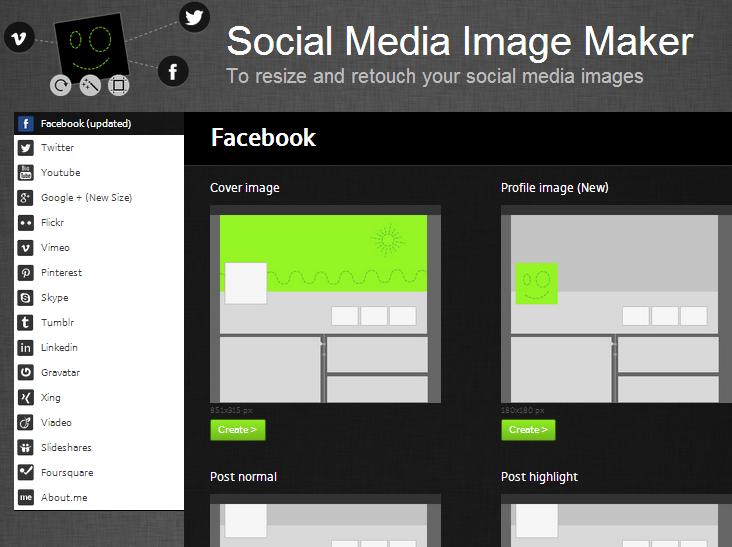 úprava fotografií a obrázkov pre sociálne siete, tvorba facebook timeline