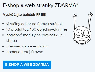 webstránky alebo e-shop zdarma