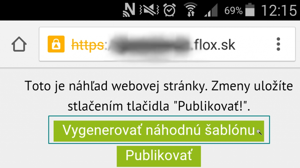 automatické generovanie mobilnej šablóny web stránky, eshopu