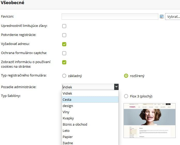 prispôsobenie administrácie web stránky a eshopu