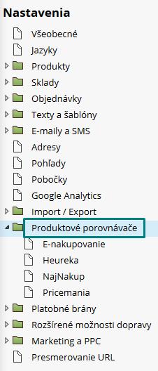 produktové porovnávače vo Flox 2 a 3