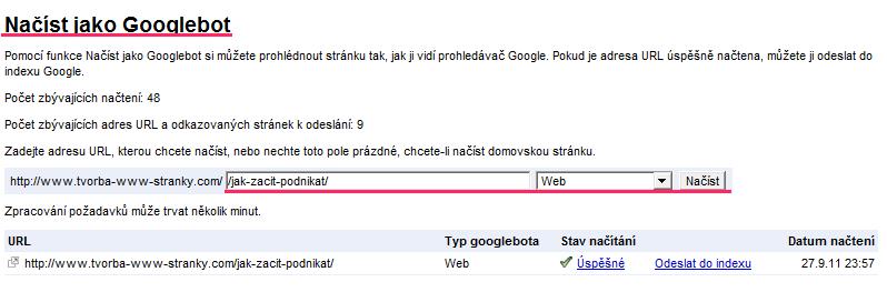 googlebot - indexácia chybových stránok