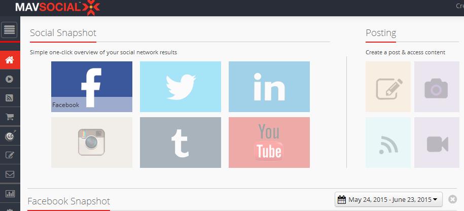 mavsocial - aplikace na zveřejnění obsahu na sociální sítě