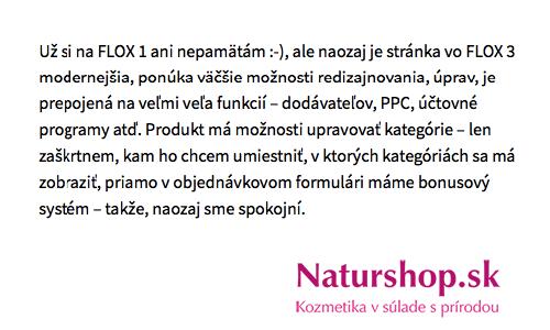 hlavné výhody FLOX 3 podľa Moniky Hojnošovej z NaturShop.sk