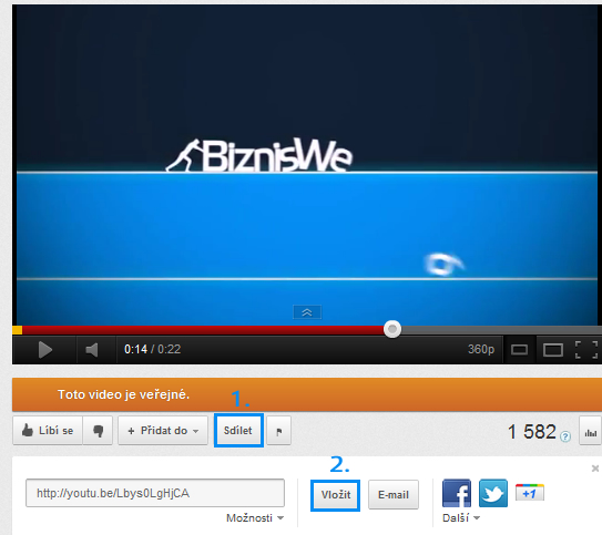 vloženie videa na www stránky, video na stránky, ako vložiť video na web