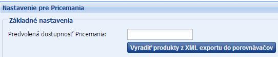 vyradenie produktov z xml feedu